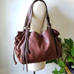 LUCKY BRAND VINTAGE INSPIRED LEATHER TOTE LARGE